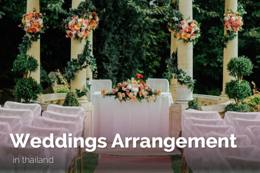 Thailand Tour Operator Weddings Arrangement