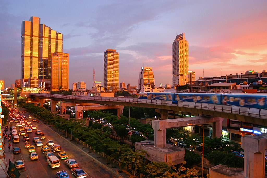 BTS Station In Bangkok