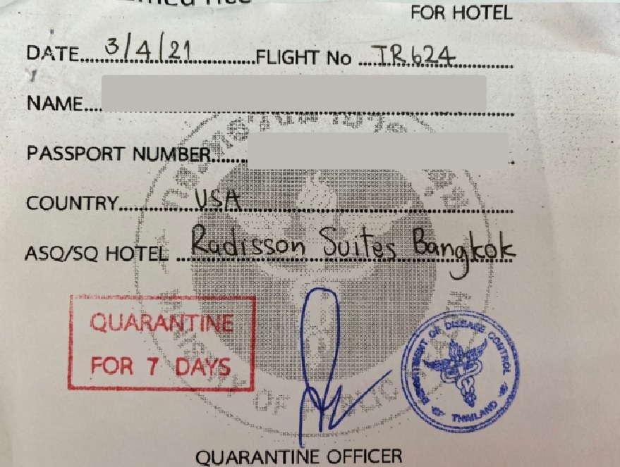 7 Days Quarantine Stamp