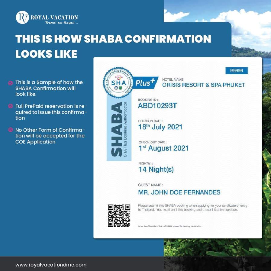 SHABA Confirmation Letter Sha Plus