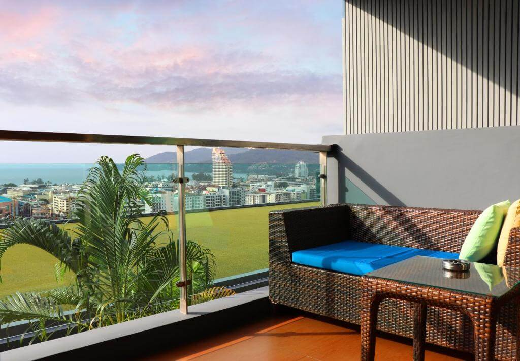The Senses Phuket Patong Hotel Deluxe Sea view Room Balcony