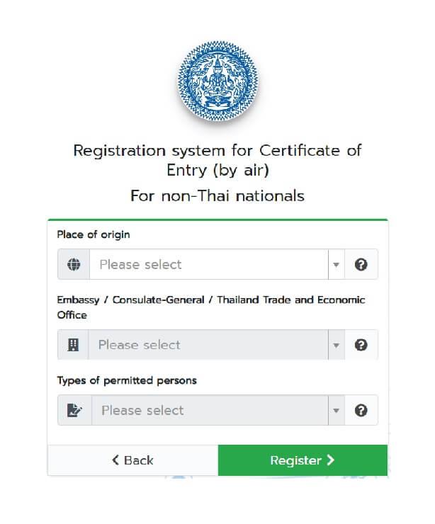 COE Service for Phuket Sandbox