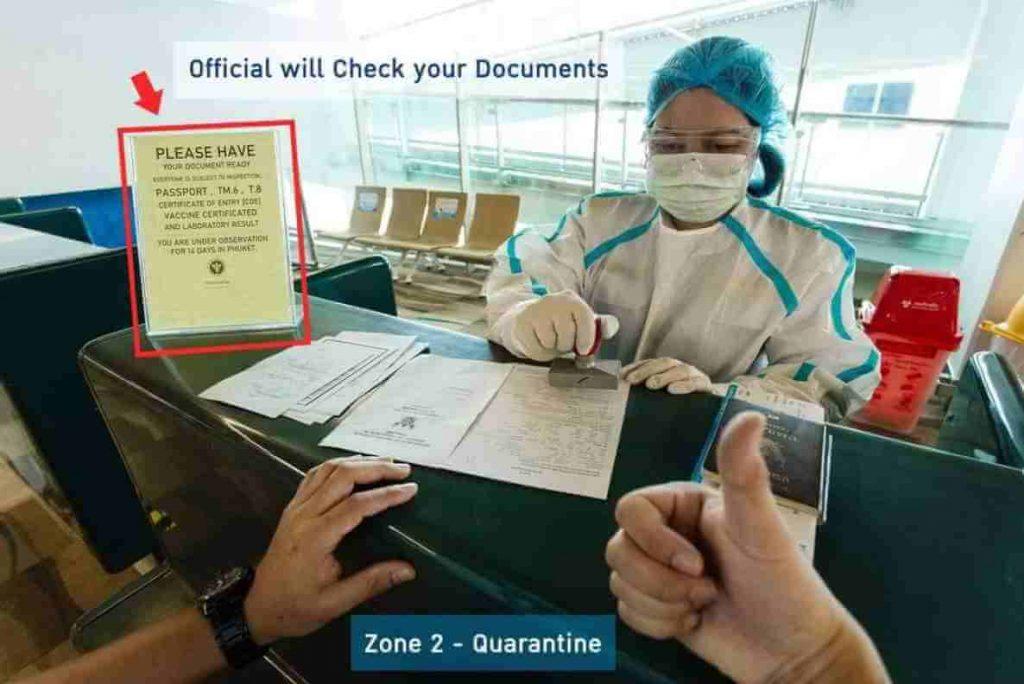 Phuket Sandbox Arrival Procedure Step 11