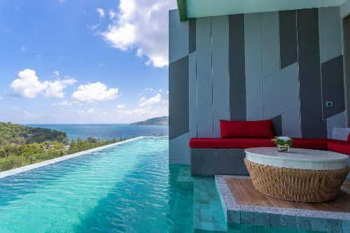 The Crest Phuket Deluxe Pool access sea view
