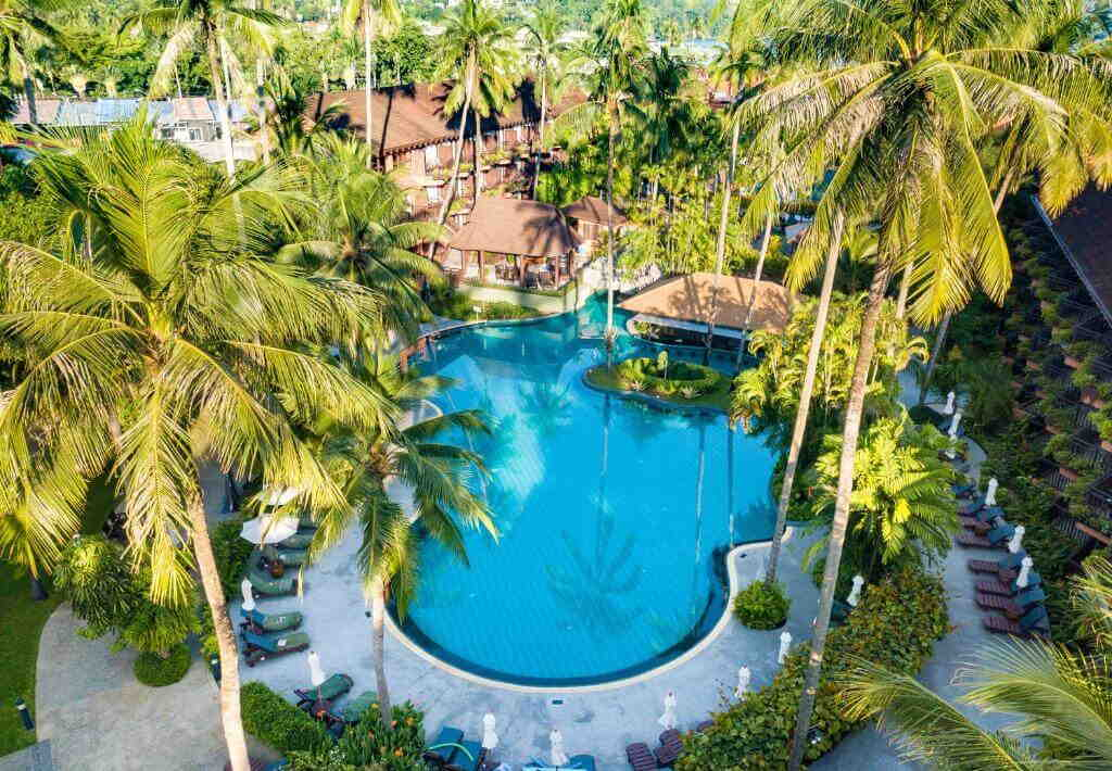 Patong Merlin Hotel Pool from top