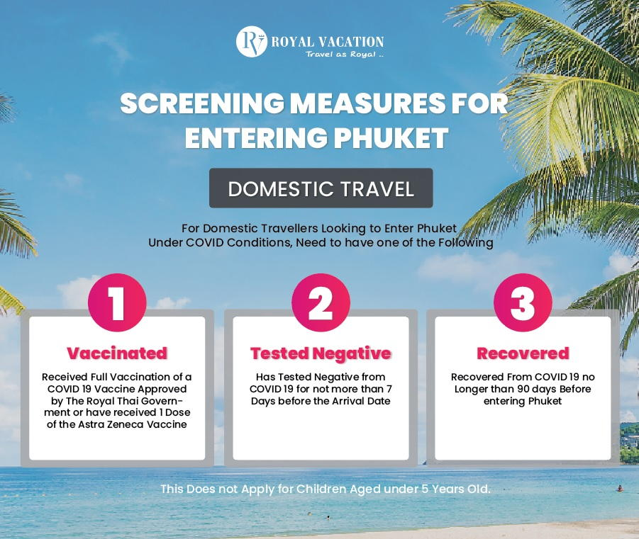 Screening measures for Domestic Travel to Phuket from 1 JUNE