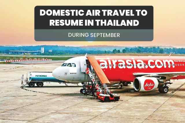 Domestic Air Travel in Thailand to Resume