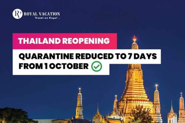 Quarantine Reduced to 7 Days in Thailand